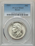 Commemorative Silver, 1937 50C Boone MS65 PCGS. PCGS Population: (834/581). NGC Census: (603/320). CDN: $160 Whsle. Bid for problem-free NGC/PCGS...