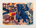 Prints & Multiples:Print, Théo Tobiasse (1927-2012). Sejours Secrets, 1997. Lithograph in colors on BFK Rives paper. 27-1/4 x 35-7/8 inches (69.2 ...