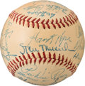 Baseball Collectibles:Balls, 1947 National League All-Star Team Signed Baseball with Ott from The Enos Slaughter Collection....