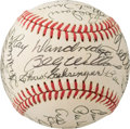 Baseball Collectibles:Balls, 1984-87 Hall of Famers Multi-Signed Baseball from The Enos Slaughter Collection....
