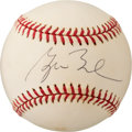 Baseball Collectibles:Balls, Circa 2000 President George W. Bush Single Signed Baseball from The Enos Slaughter Collection. ...