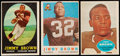 Football Cards:Lots, 1958-60 Topps Football Jim Brown Trio (3). ...
