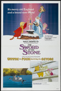"Movie Posters:Animated, The Sword in the Stone/Winnie the Pooh and a Day for Eeyore Combo(Buena Vista, R-1983). One Sheet (27"" X 41""). Animated...."