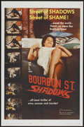 "Movie Posters:Action, Bourbon Street Shadows (Republic, 1962). One Sheet (27"" X 41""). Action...."