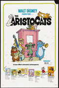 "Movie Posters:Animated, The Aristocats (Buena Vista, R-1980). Title Lobby Card and Lobby Cards (4) (11"" X 14"") and One Sheet (27"" X 41""). Animated.... (Total: 6 Items)"