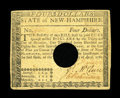 Colonial Notes:New Hampshire, New Hampshire April 29, 1780 $4 Extremely Fine....