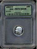 Proof Roosevelt Dimes: , 1994-S 10C Silver PR 70 Deep Cameo ICG. ...