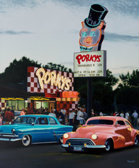 Terrence Fogarty (American, 20th Century) Porky's Drive In, 1996 Oil on canvas 48 x 40 inches (12