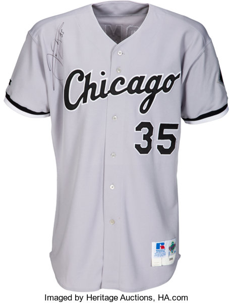 online store fc423 1a54a 1998 Frank Thomas Chicago White Sox Team Issued Signed Jersey....