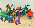 Animation Art:Limited Edition Cel, Fat Albert and the Cosby Kids Golf-Themed Limited EditionCel #5/250 (Filmation, c. 1990s)....