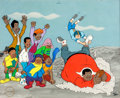 Animation Art:Limited Edition Cel, Fat Albert and the Cosby Kids Football-Themed LimitedEdition Cel #12/250 (Filmation, c. 1990s)....