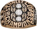 Hockey Collectibles:Others, 1981-82 New York Islanders Stanley Cup Championship Ring....