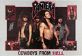 Music Memorabilia:Posters, Pantera Signed Poster and Concert Photo Pass (1988)....