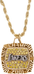 Basketball Collectibles:Others, 2000-02 Los Angeles Lakers NBA Championship Three-Peat Suite OwnerPendant....