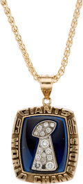 """Football Collectibles:Others, 1986 New York Giants """"World Champions"""" Super Bowl XXI Pendant. ..."""