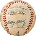 Baseball Collectibles:Balls, 1952 American League All-Star Team Signed Baseball from The Enos Slaughter Collection....