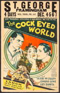"Movie Posters:Comedy, The Cock-Eyed World (Fox, 1929) Fine/Very Fine. Window Card (14"" X 22""). Comedy...."