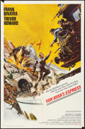 "Movie Posters:War, Von Ryan's Express (20th Century Fox, 1965) Folded, Overall: Fine/Very Fine. One Sheet (27"" X 41"") & Lobby Card Set of 8 (11... (Total: 9 Items)"