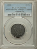 1804 1/2 C Spiked Chin -- Environmental Damage -- PCGS Genuine. XF Details. NGC Census: (0/0). PCGS Population: (85/257)...