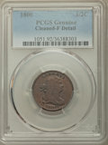 Half Cents: , 1800 1/2 C -- Cleaning -- PCGS Genuine. Fine Details. PCGS Population: (13/323). CDN: $125 Whsle. Bid fo...