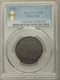 Large Cents, 1795 1C Plain Edge VG8 PCGS Secure. PCGS Population: (45/381 and 0/4+). NGC Census: (14/121 and 0/1+). VG8 . Mintage 501,50...