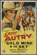 "Movie Posters:Western, Gold Mine In the Sky (Republic, R-1940s). One Sheet (27"" X 41""). Western...."