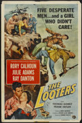 "Movie Posters:Adventure, The Looters (Universal International, 1955). One Sheet (27"" X 41"").Adventure...."