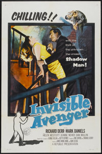 """The Invisible Avenger (Republic, 1958). One Sheet (27"""" X 41""""). Action"""