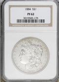 Proof Morgan Dollars, 1884 $1 PR62 NGC....