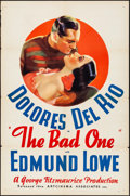 "Movie Posters:Drama, The Bad One (Artcinema Associates, R-1937) Folded, Very Fine-. One Sheet (27"" X 41""). Drama...."