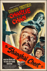 "The Shanghai Chest (Monogram, 1948). Folded, Very Fine-. One Sheet (27"" X 41""). Mystery"
