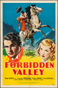 "Movie Posters:Western, Forbidden Valley (Universal, 1938) Folded, Fine/Very Fine. One Sheet (27"" X 41""). Western...."