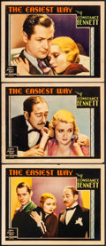 """Movie Posters:Romance, The Easiest Way (MGM, 1931) Overall: Fine/Very Fine. Lobby Cards (3) (11"""" X 14""""). Romance. From the Collection of Frank Bu... (Total: 3 Items)"""