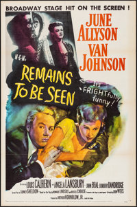 """Remains to be Seen (MGM, 1953). Folded, Very Fine-. One Sheet (27"""" X 41""""). Comedy"""