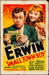 """Small Town Boy (Grand National, 1937) Folded, Fine. One Sheet (27"""" X 41""""). Comedy. From the Collection of Fran..."""