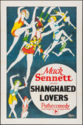 "Movie Posters:Comedy, Shanghaied Lovers (Pathé, 1924) Folded, Fine/Very Fine. One Sheet(27"" X 41"") Mack Sennett Stock. Comedy. From the Collect..."