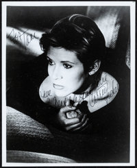 """Carrie Fisher (c. 1980a) Very Fine-. Autographed Convention Photo (8"""" X 10""""). Miscellaneous"""