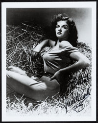 "Jane Russell in ""The Outlaw"" (c.1980s) Very Fine+. Autographed Restrike Photo (8"" X 10""). Western..."