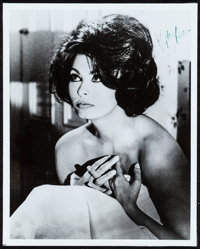 """Sophia Loren & Other Lot (c. Early 1950s) Very Fine-. Autographed Photos (2) & Photo (8"""" X 10""""). Drama..."""