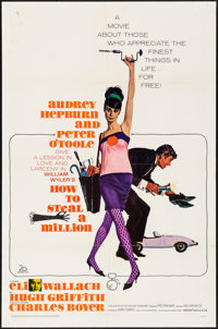 """How to Steal a Million (20th Century Fox, 1966) Folded, Very Fine-. One Sheet (27"""" X 41""""). Robert McGinnis Art..."""