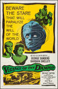"Movie Posters:Science Fiction, Village of the Damned (MGM, 1960) Folded, Very Fine-. One Sheet (27"" X 41""). Science Fiction...."