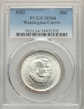 Commemorative Silver, 1952 50C Washington-Carver MS66 PCGS. This lot will also include a: 1954-S 50C Washington-Carver MS65 PCGS.... (Total: 2 coins)