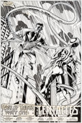 Original Comic Art:Splash Pages, Mark Bagley and Larry Mahlstedt Amazing Spider-Man #397Splash Page 1 Original Art (Marvel, 1995)....