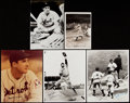 Autographs:Photos, Hank Greenberg Signed Photograph Lot of 9.... (Total: 9 items)