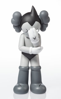 KAWS (b. 1974) Astro Boy (Grey), 2012 Painted cast vinyl 14-3/4 x 6 x 4-1/2 inches (37.5 x 15.2 x