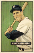 "Baseball Collectibles:Others, 2018 Hank Greenberg 1951 Bowman ""Card That Never Was"" Original Artwork by Arthur Miller. ..."