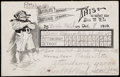 Autographs:Post Cards, 1909 World Series - Pirates vs. Tigers - Game 1 Scorecard Postcard....
