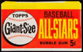 Baseball Cards:Unopened Packs/Display Boxes, 1964 Topps Giants Unopened Wax Pack. ...