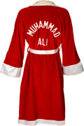 Boxing Collectibles:Memorabilia, 1971 Muhammad Ali Fight Worn & Signed Robe from Frazier I Bout....