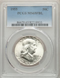Franklin Half Dollars, 1955 50C MS65 Full Bell Lines PCGS. PCGS Population: (1909/226). CDN: $80 Whsle. Bid for problem-free NG...